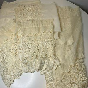 jcpennys lace sheer curtain panel set 5 color off